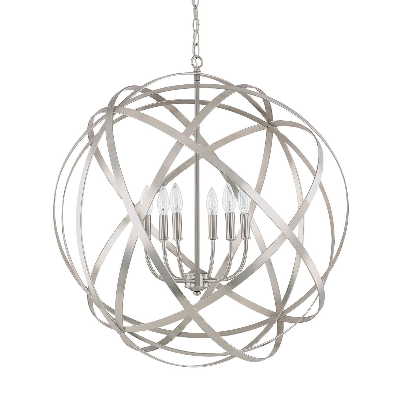 Most Popular Lynn 6 Light Geometric Chandeliers For Adcock 6 Light Globe Pendant (Gallery 18 of 20)