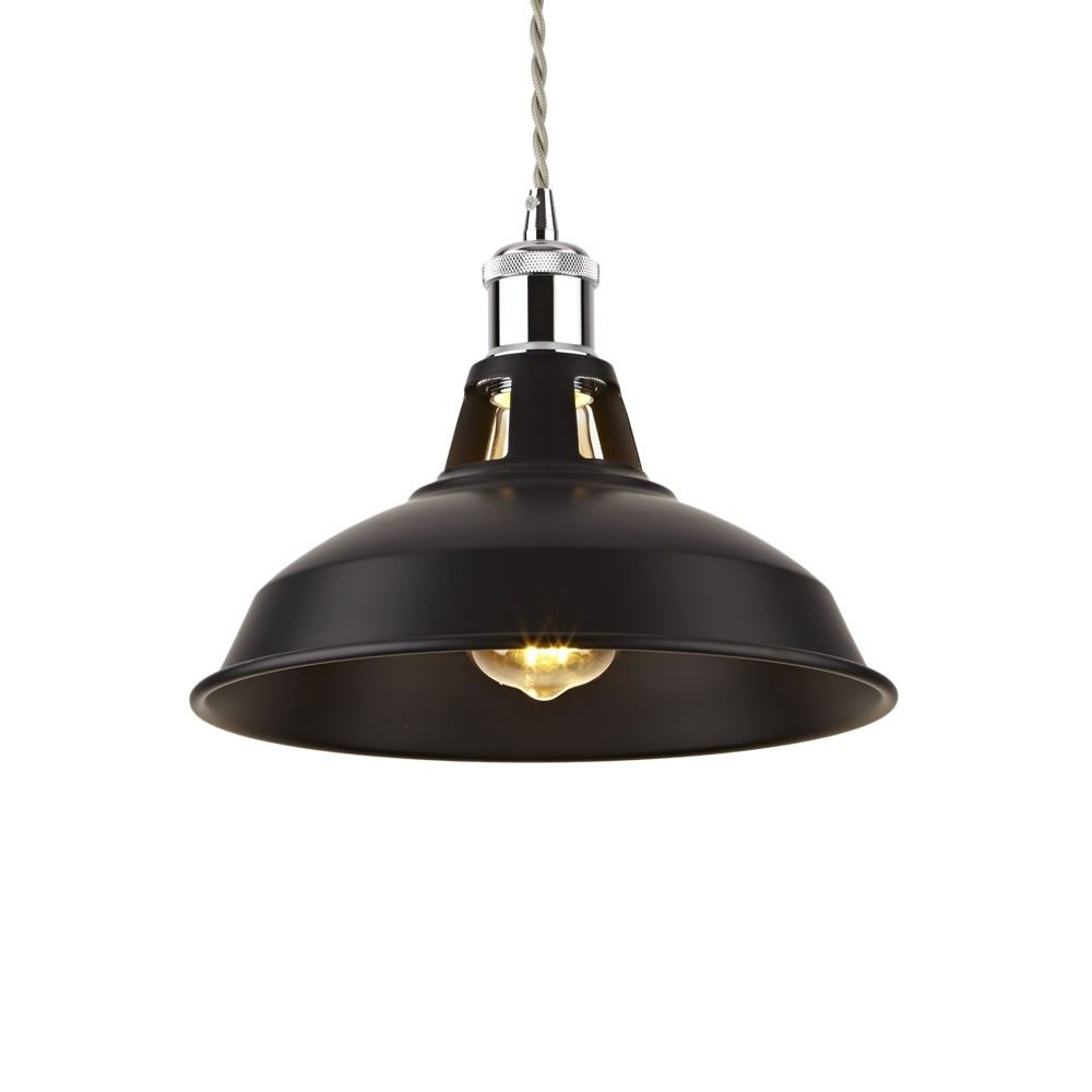 Most Popular Macon 1 Light Single Dome Pendants With Biard Brera Black Iron Pendant Light With Various Pendant (Gallery 15 of 20)
