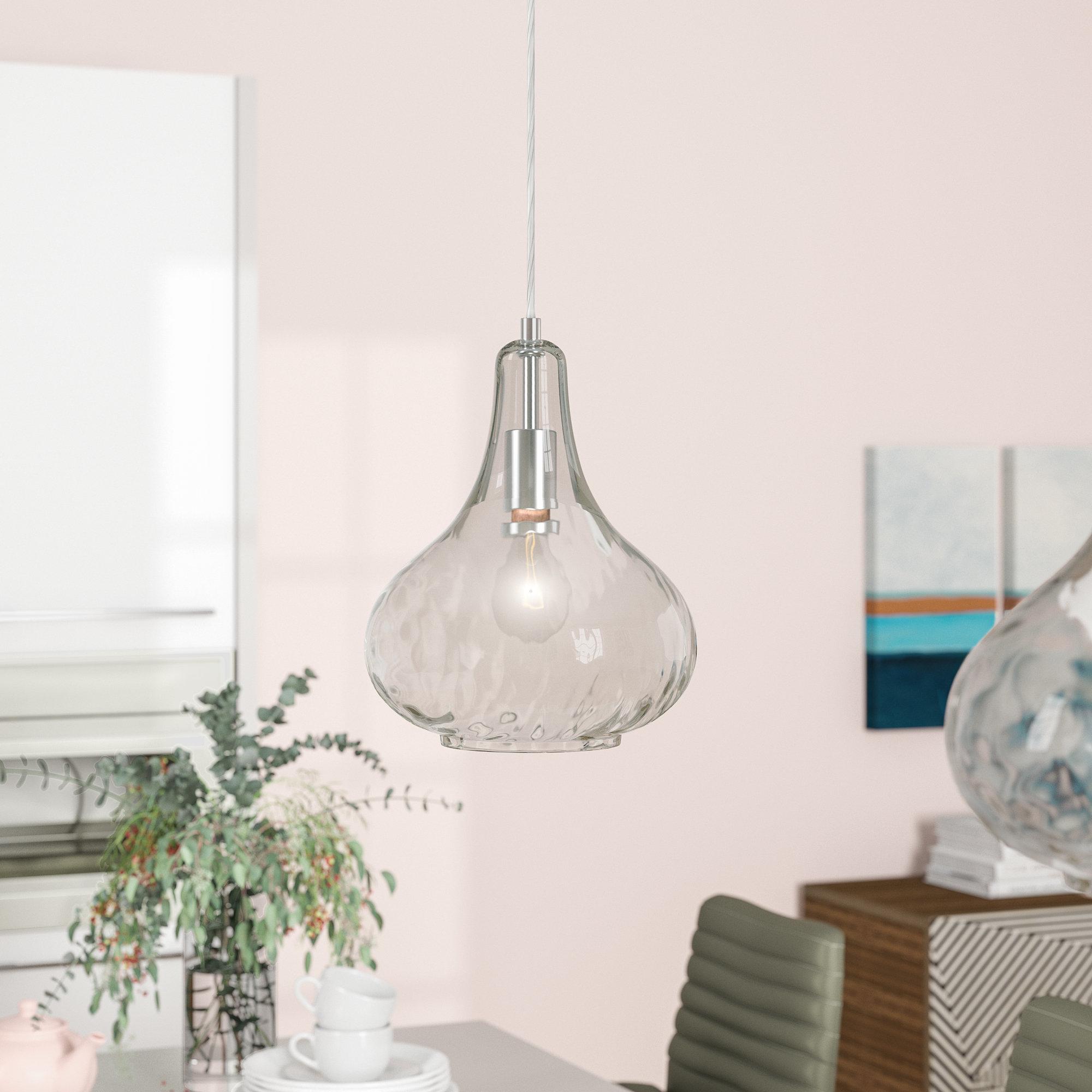 Most Popular Mullica 1 Light Teardrop Pendant In Devereaux 1 Light Single Globe Pendants (View 14 of 20)