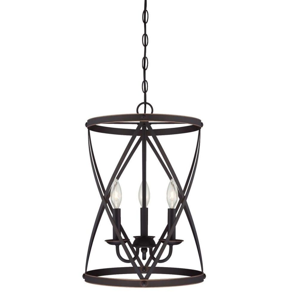 Most Popular Nisbet 4 Light Lantern Geometric Pendants Throughout Gingerich 3 Light Lantern Pendant (View 8 of 20)