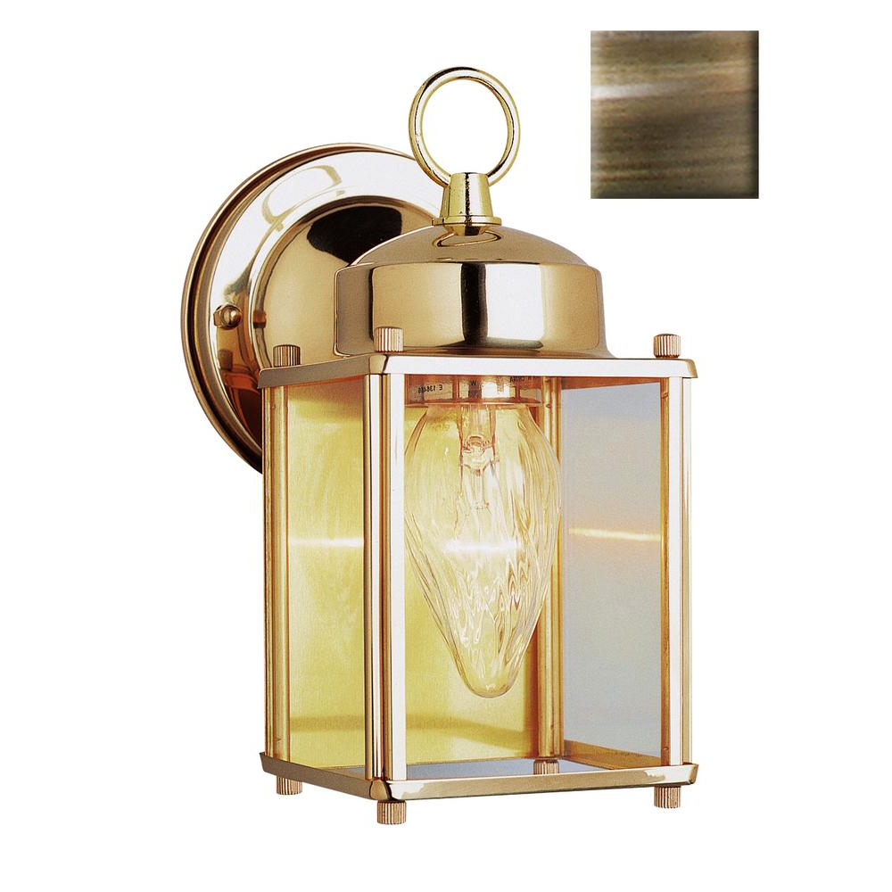 Most Popular Nolan 1 Light Lantern Chandeliers For Bel Air Lighting Century 1 Light Antique Brass Outdoor Wall Lantern Sconce (View 9 of 20)