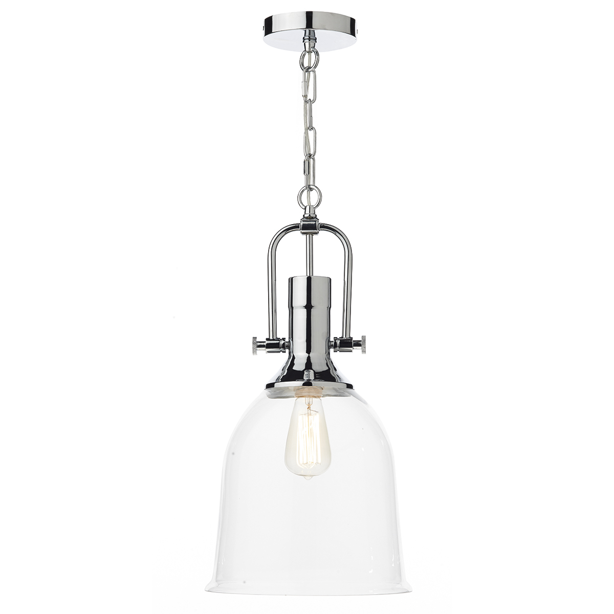 Most Popular Nolan 1 Light Single Cylinder Pendants Within Nolan 1 Light Pendant Polished Chrome/ Clear – (View 6 of 20)