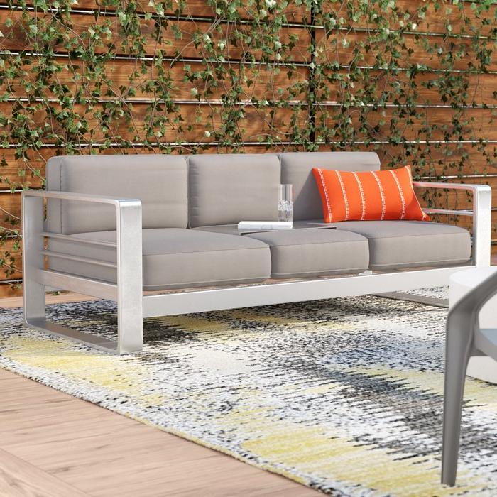 Most Popular Royalston Patio Sofa With Cushions With Royalston Patio Sofas With Cushions (View 8 of 20)