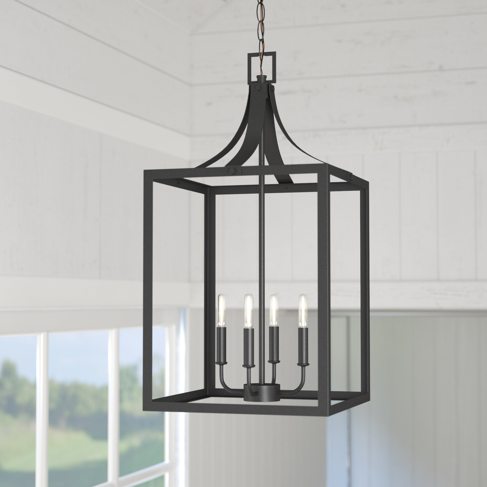Most Popular Sherri Ann 4 Light Foyer Pendant Pertaining To Sherri Ann 3 Light Lantern Square / Rectangle Pendants (Gallery 6 of 20)