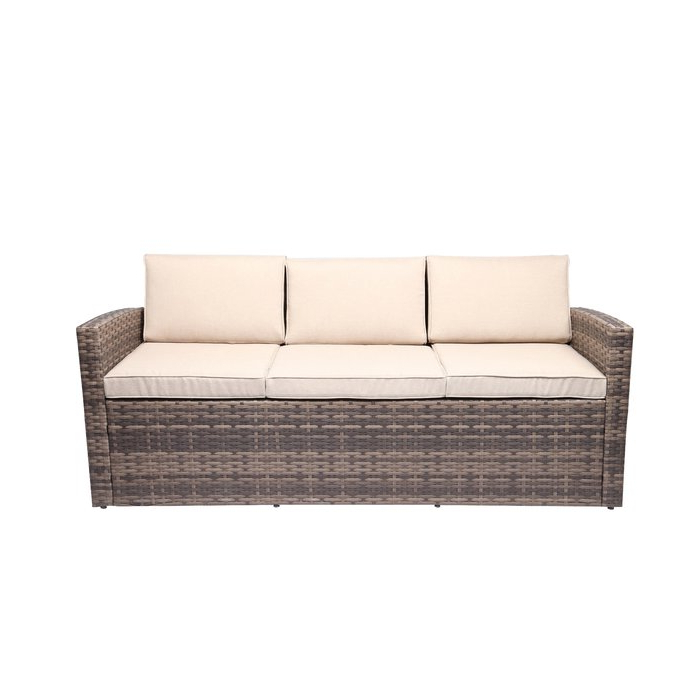 Most Popular Silloth Patio Sofas With Cushions Inside Silloth Outdoor Pool Garden Patio Sofa With Cushions (View 6 of 20)