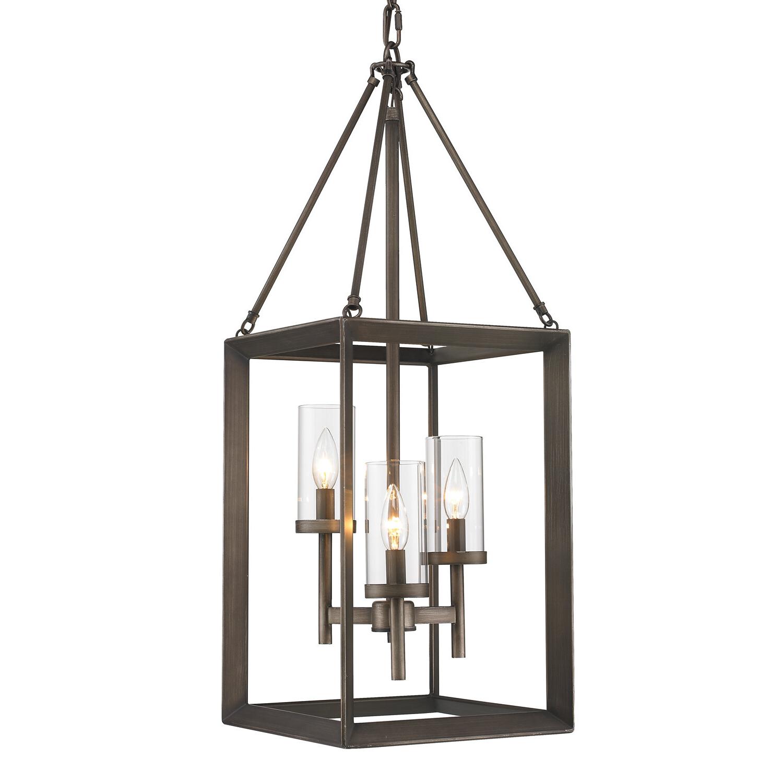 Most Popular Thorne 4 Light Lantern Rectangle Pendants In Thorne 3 Light Foyer Pendant (View 14 of 20)