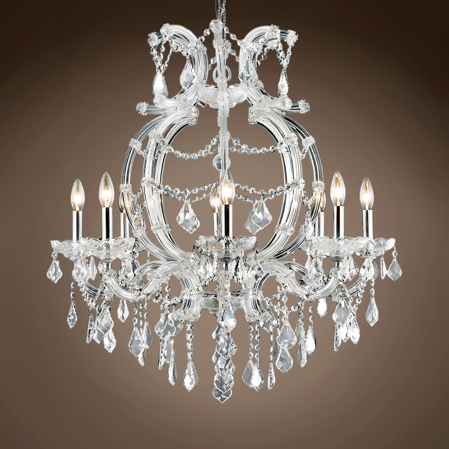 """Most Popular Thresa 5 Light Shaded Chandeliers For Jm Maria Theresa 8 Light 28"""" Chandelier (Gallery 17 of 20)"""