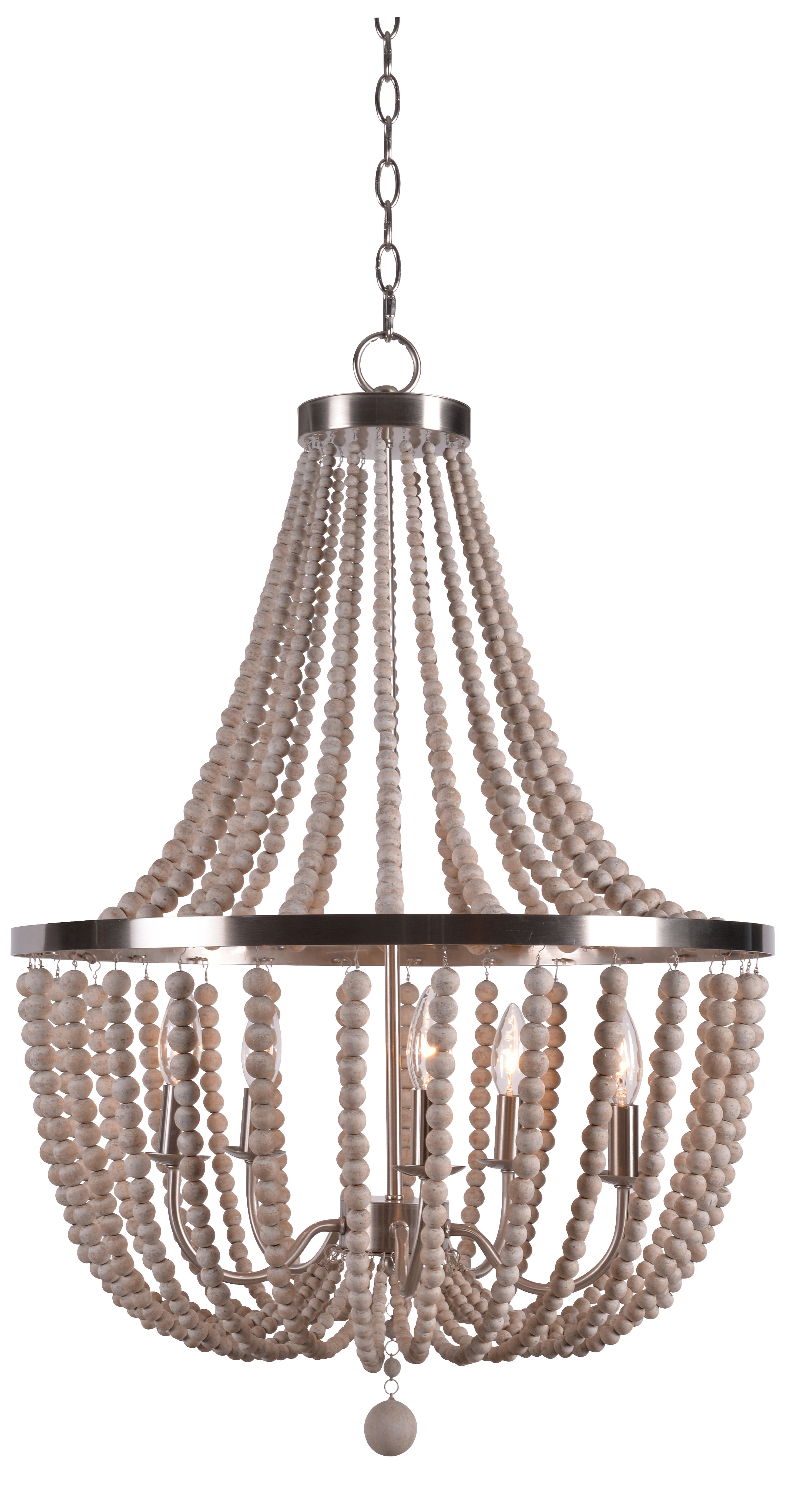 Most Popular Tilden Wood Bead 5 Light Empire Chandelier With Duron 5 Light Empire Chandeliers (View 4 of 20)