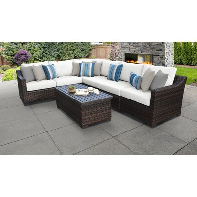 Most Popular Tk Classics Kathy Ireland Homes & Gardens River Brook 7 With Oreland Patio Sofas With Cushions (View 7 of 20)
