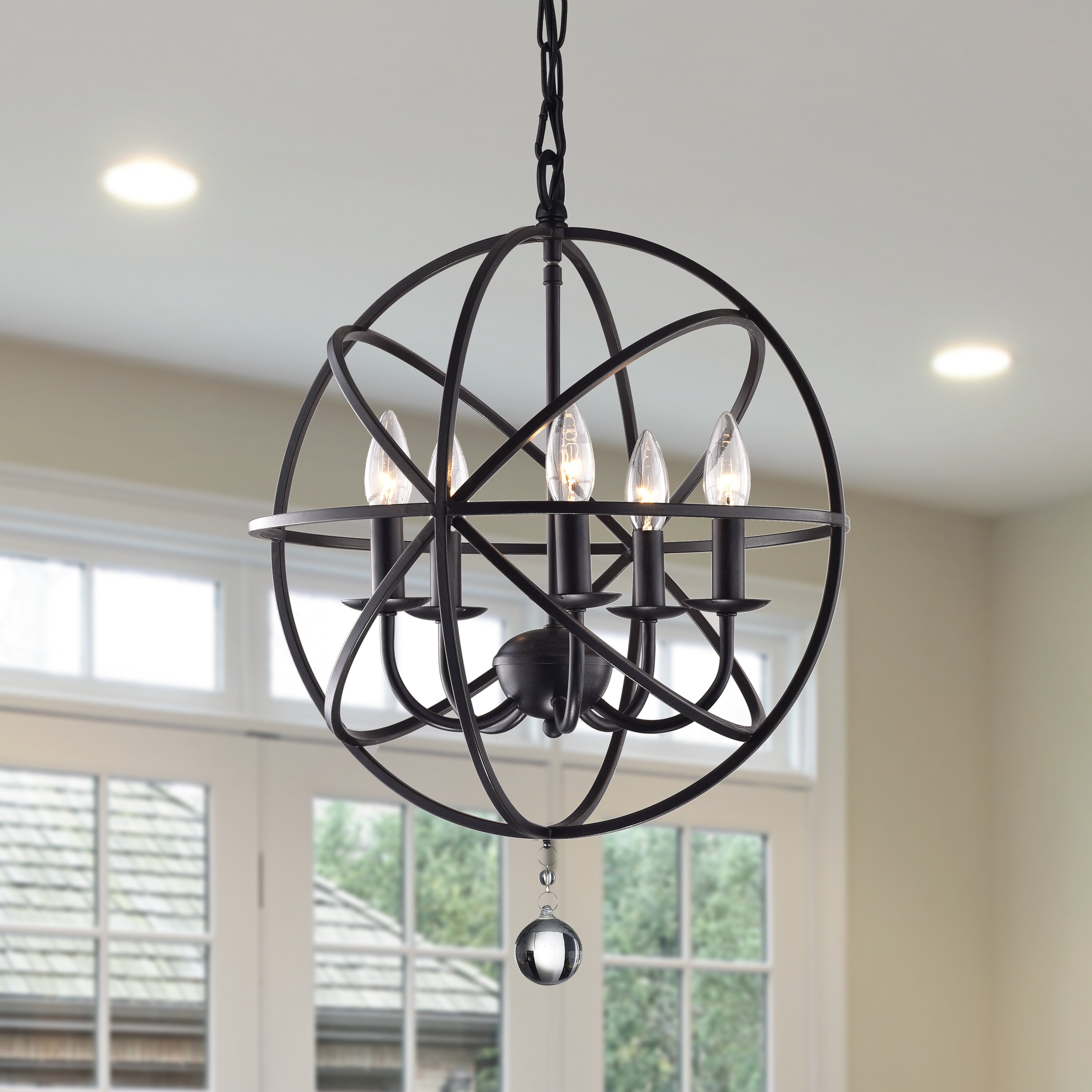 Most Popular Verlene Foyer 5 Light Globe Chandelier & Reviews (Gallery 13 of 20)