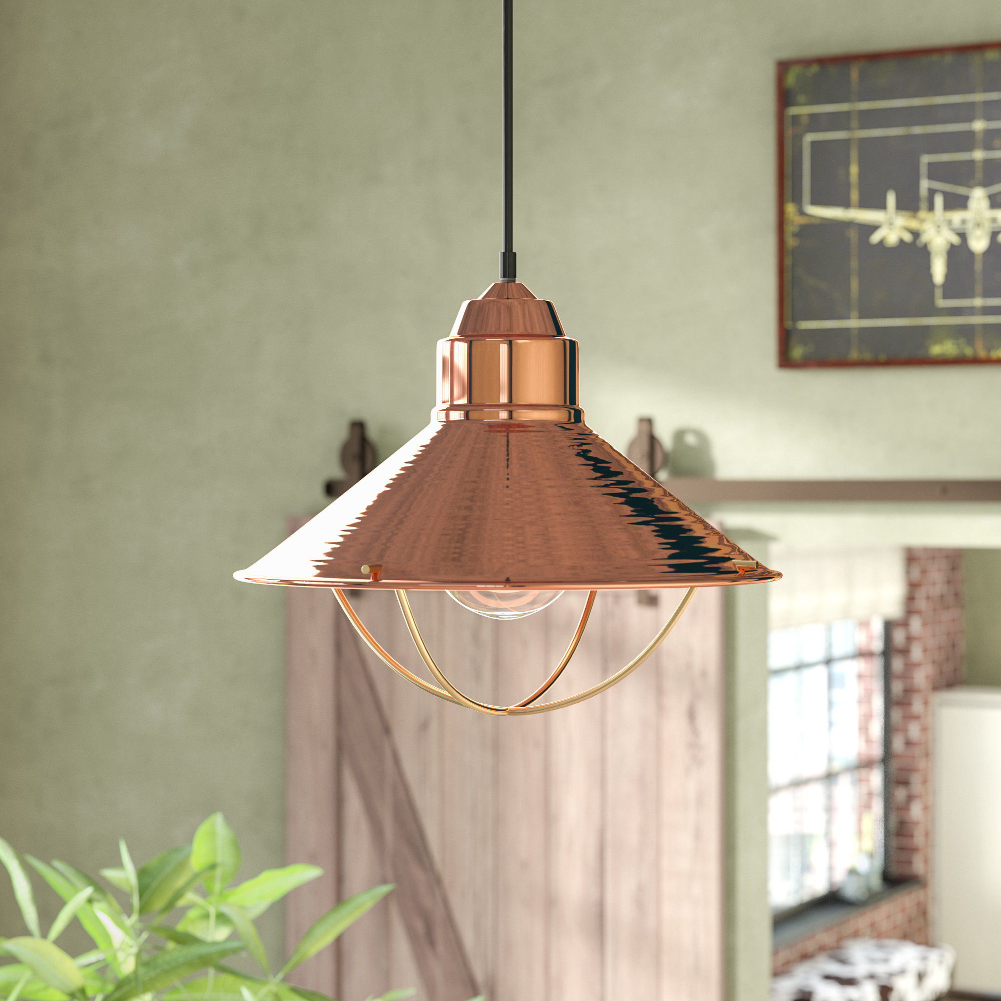 Most Popular Yadira 1 Light Single Cone Pendant Pertaining To Bryker 1 Light Single Bulb Pendants (View 11 of 20)