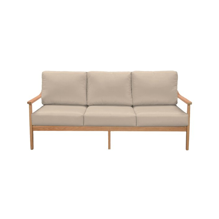 Most Recent Alton Teak Patio Sofa With Sunbrella Cushions For Ellanti Teak Patio Daybeds With Cushions (Gallery 14 of 20)