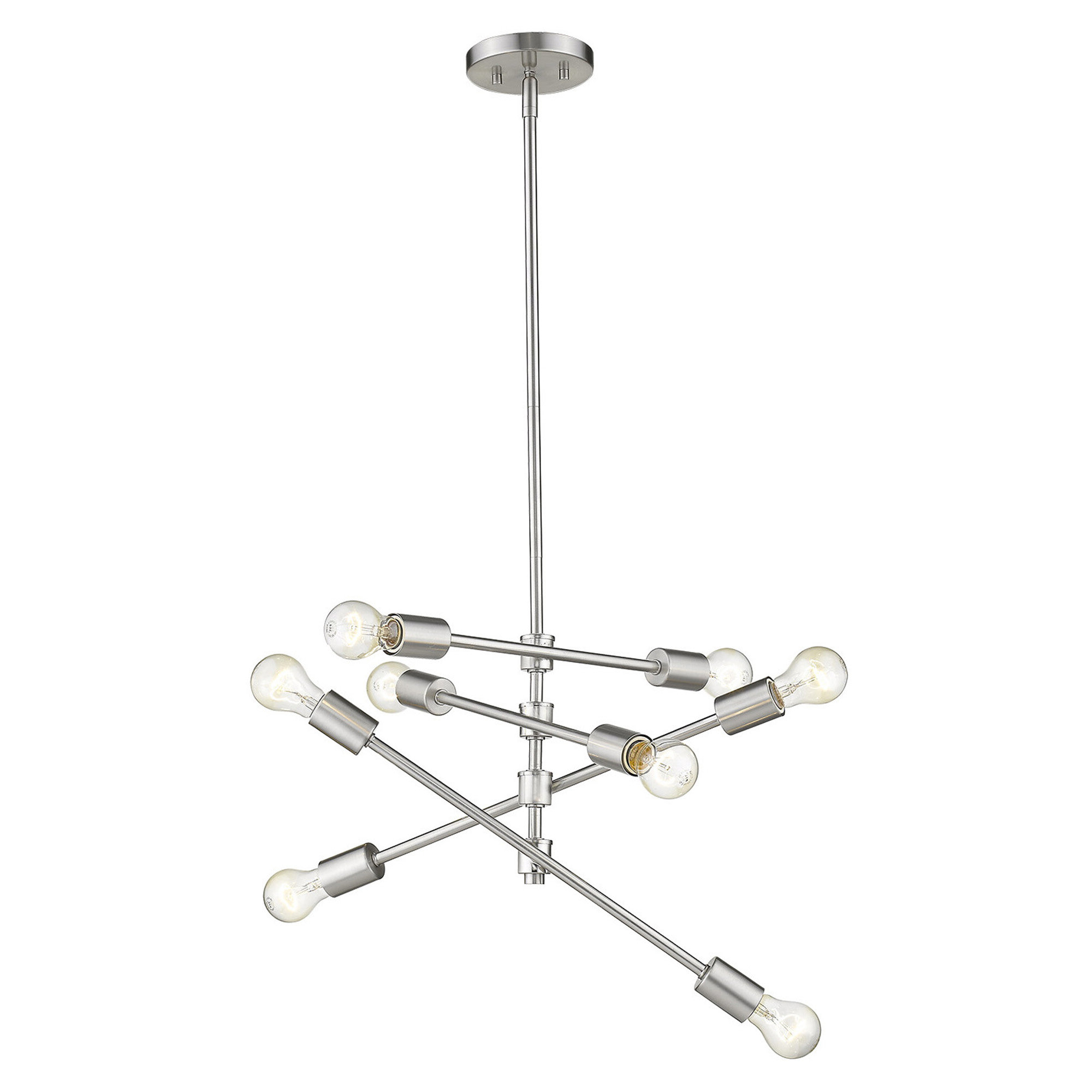 Most Recent Asher 12 Light Sputnik Chandeliers Regarding Bella Vista 8 Light Sputnik Chandelier (View 16 of 20)
