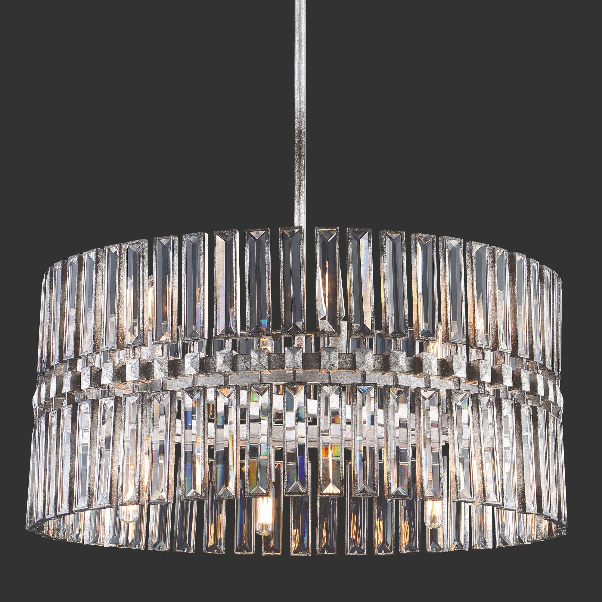 "Most Recent Aurore 4 Light Crystal Chandeliers For Metropolitan N7712 Belle Aurore 12 Light 26"" Wide Crystal Drum Chandelier (View 14 of 20)"