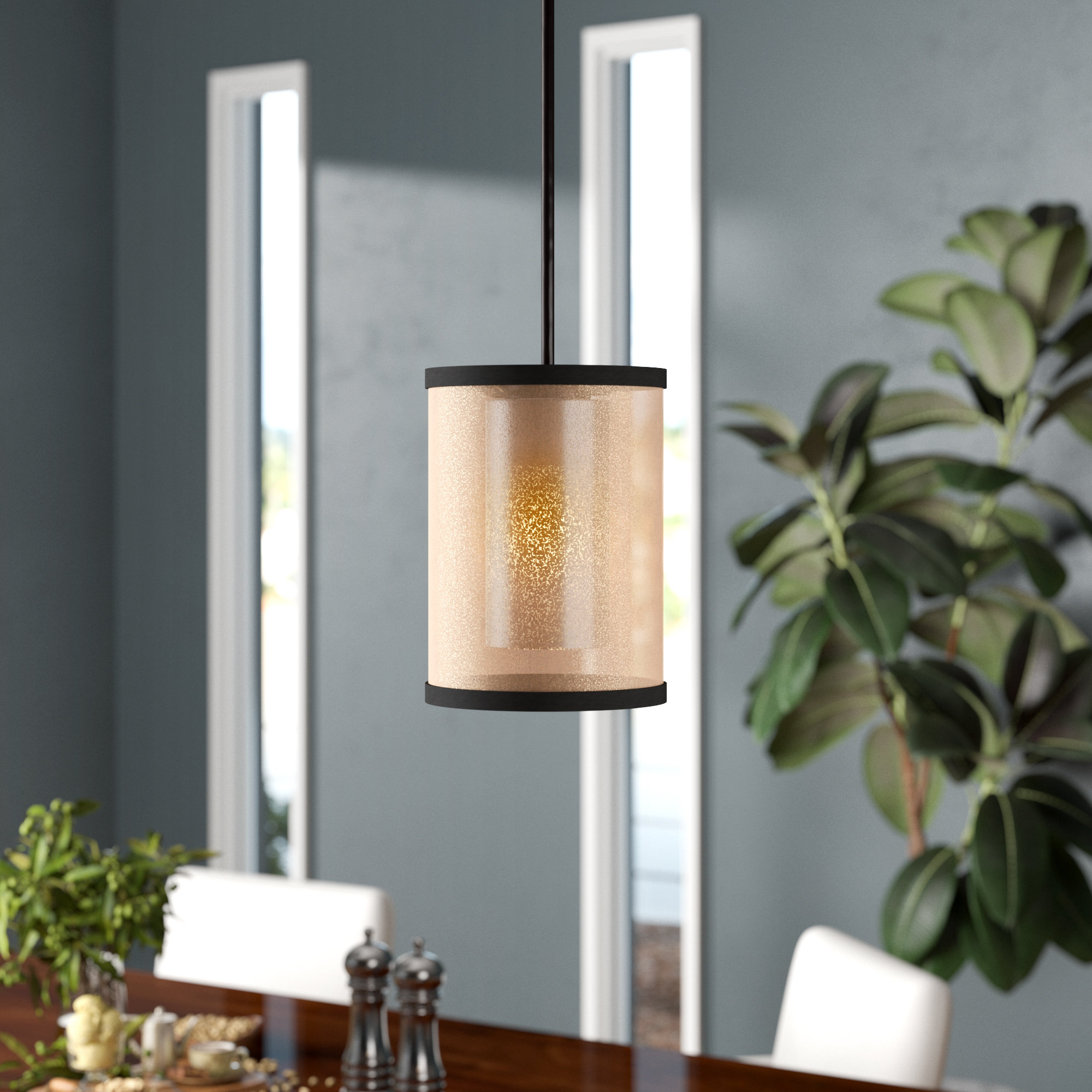 Most Recent Bellamira 1 Light Drum Pendants For Dailey 1 Light Single Cylinder Pendant (View 9 of 20)