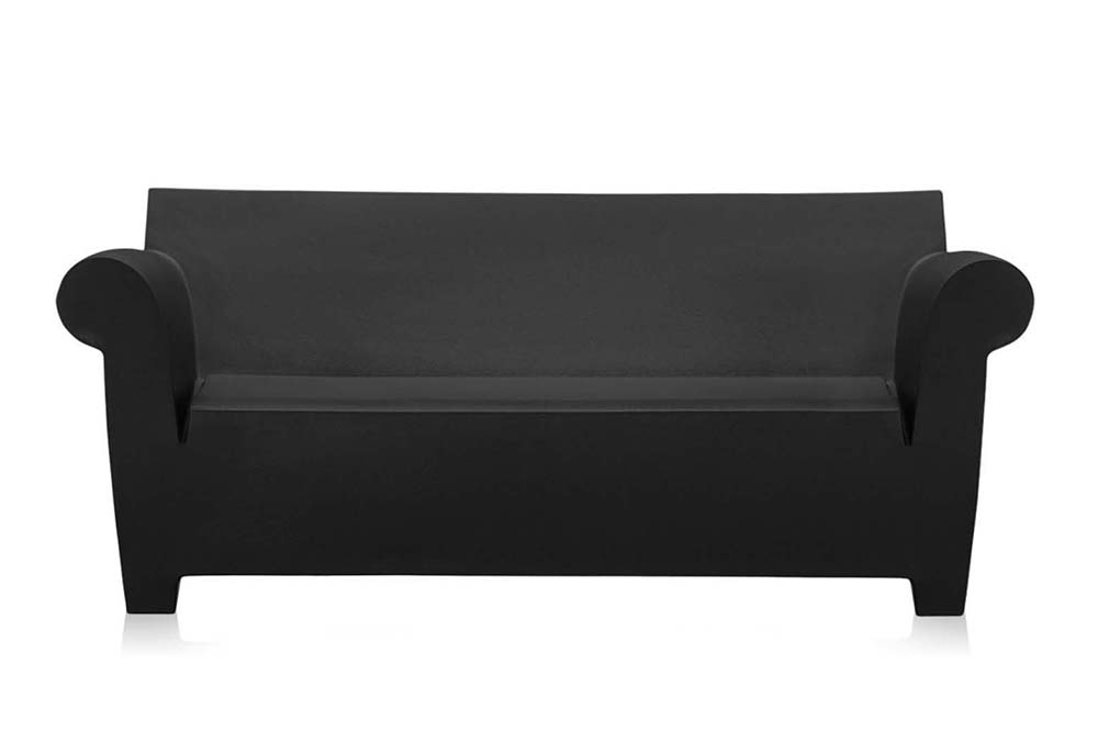 Most Recent Bubble Club Sofas In Kartell Bubble Club Sofa (Black – Colored Polyethylene) (View 13 of 20)