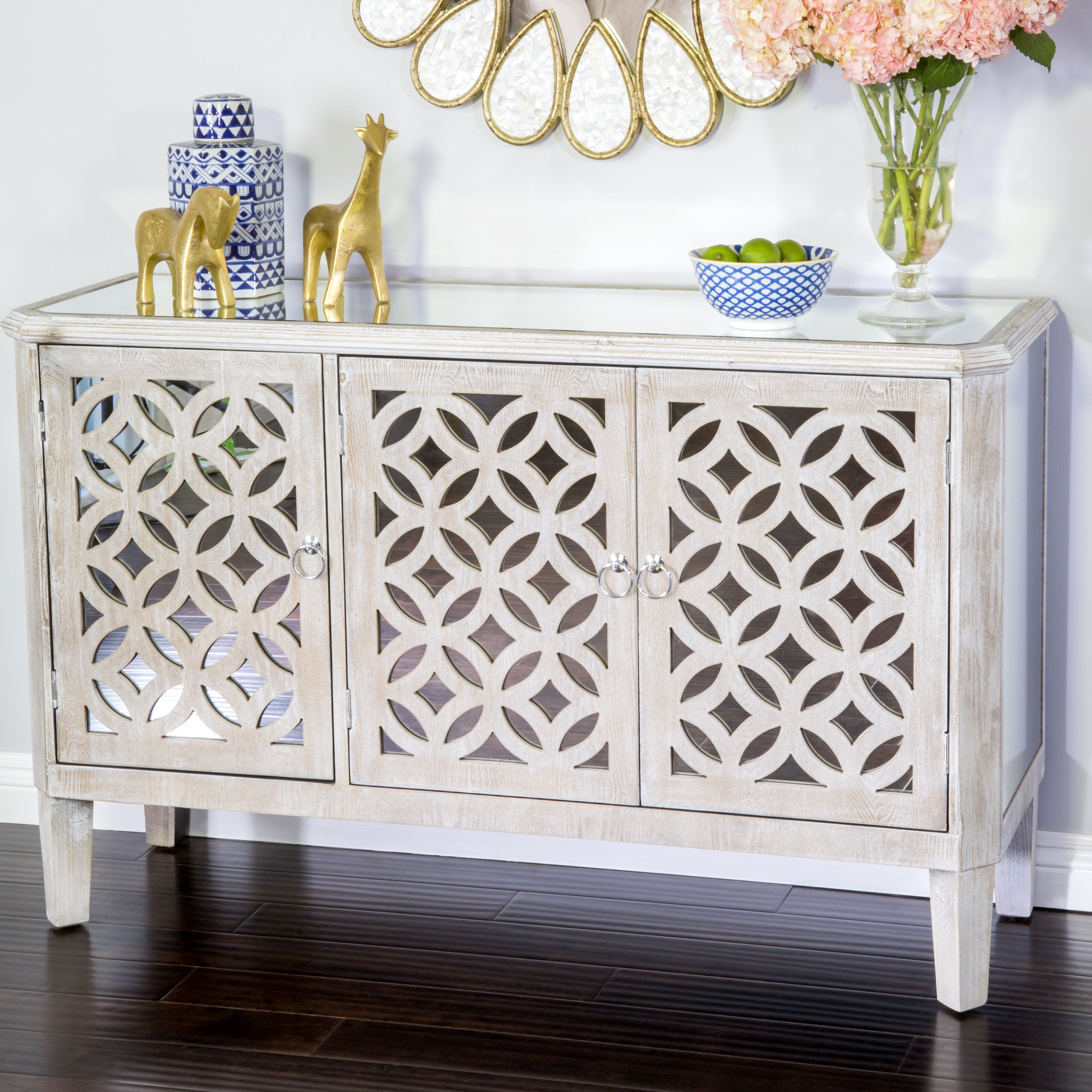 Most Recent Bungalow Rose Highlandville Buffet Table For Chicoree Charlena Sideboards (Gallery 13 of 20)