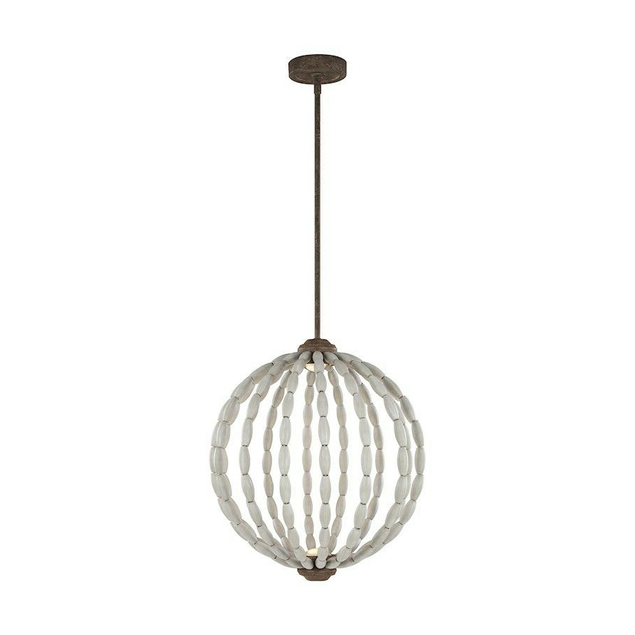 Most Recent Callington 1 Light Led Single Geometric Pendants For Feiss Orren 2 Light Pendant, Grey/weathered Iron, (View 8 of 20)