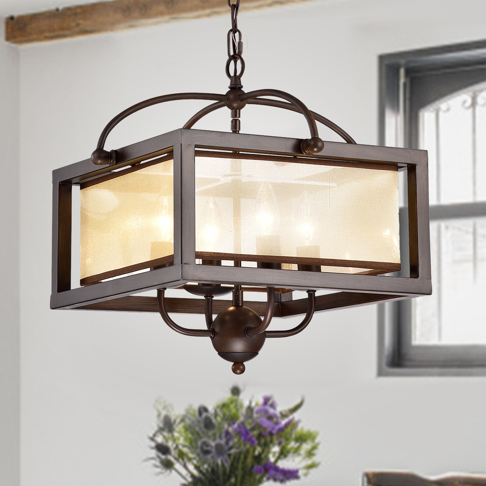 Most Recent Cambra 4 Light Square/rectangle Chandelier With Ellenton 4 Light Rectangle Chandeliers (Gallery 8 of 20)