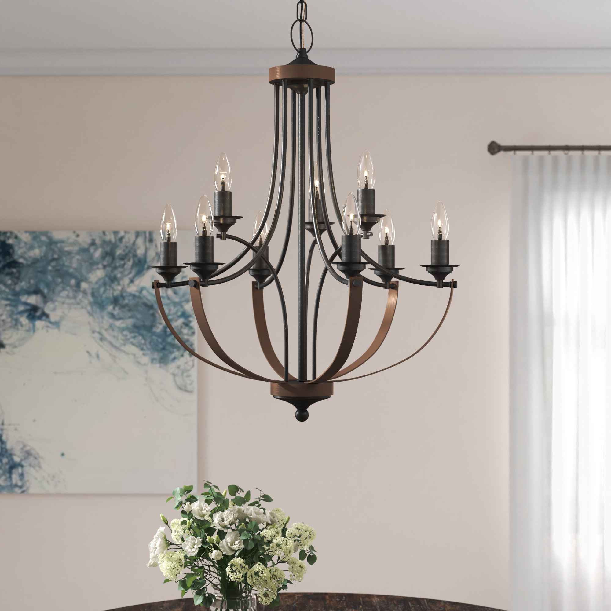 Most Recent Camilla 9 Light Candle Style Chandelier In Phifer 6 Light Empire Chandeliers (View 8 of 20)