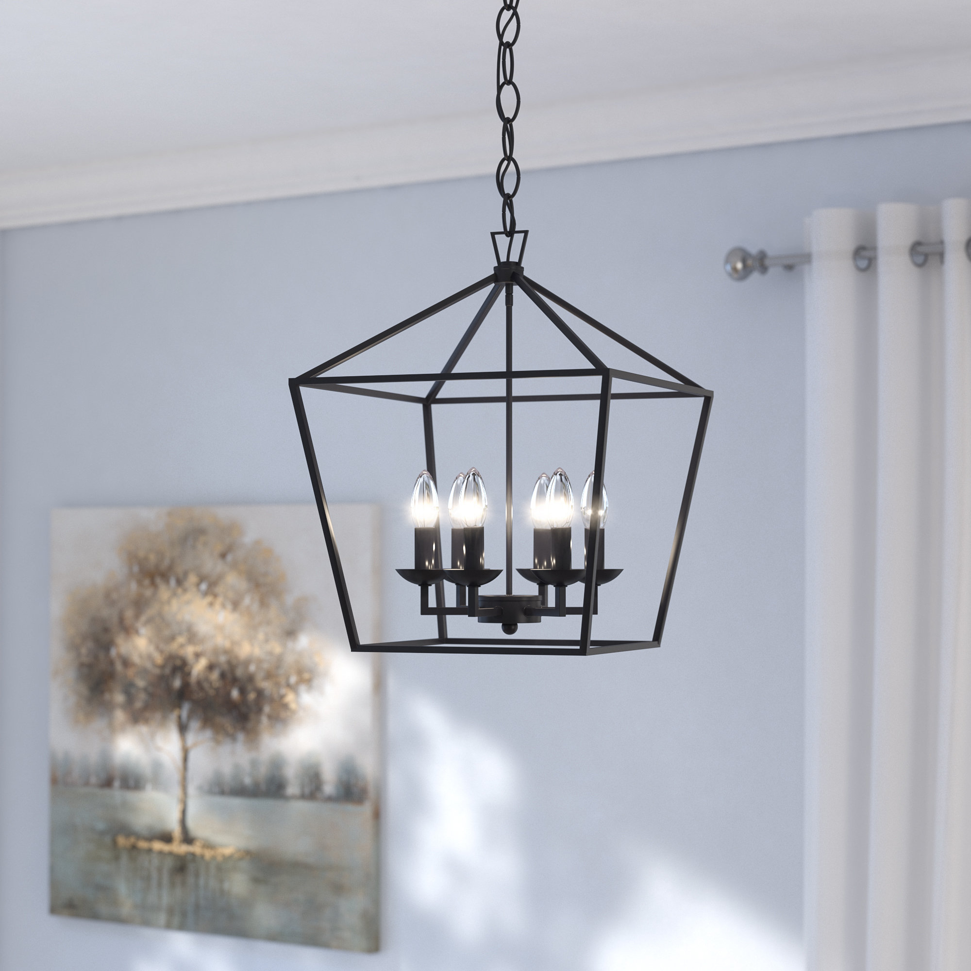 Most Recent Carmen 6 Light Lantern Geometric Pendants Pertaining To Carmen 6 Light Lantern Geometric Pendant (View 3 of 20)