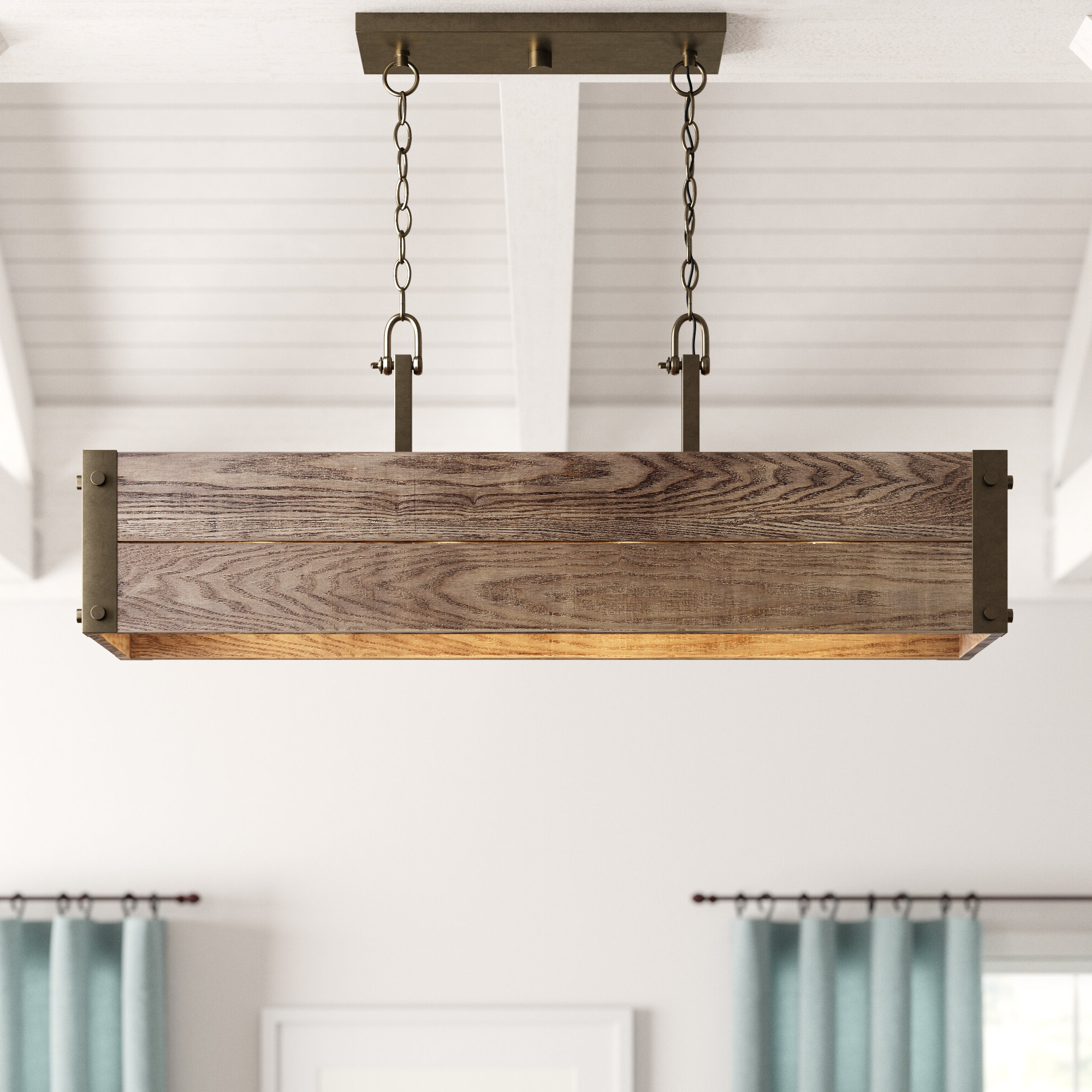 Most Recent Cinchring 4 Light Kitchen Island Linear Pendants Inside Cathey 4 Light Kitchen Island Linear Pendant (View 12 of 20)