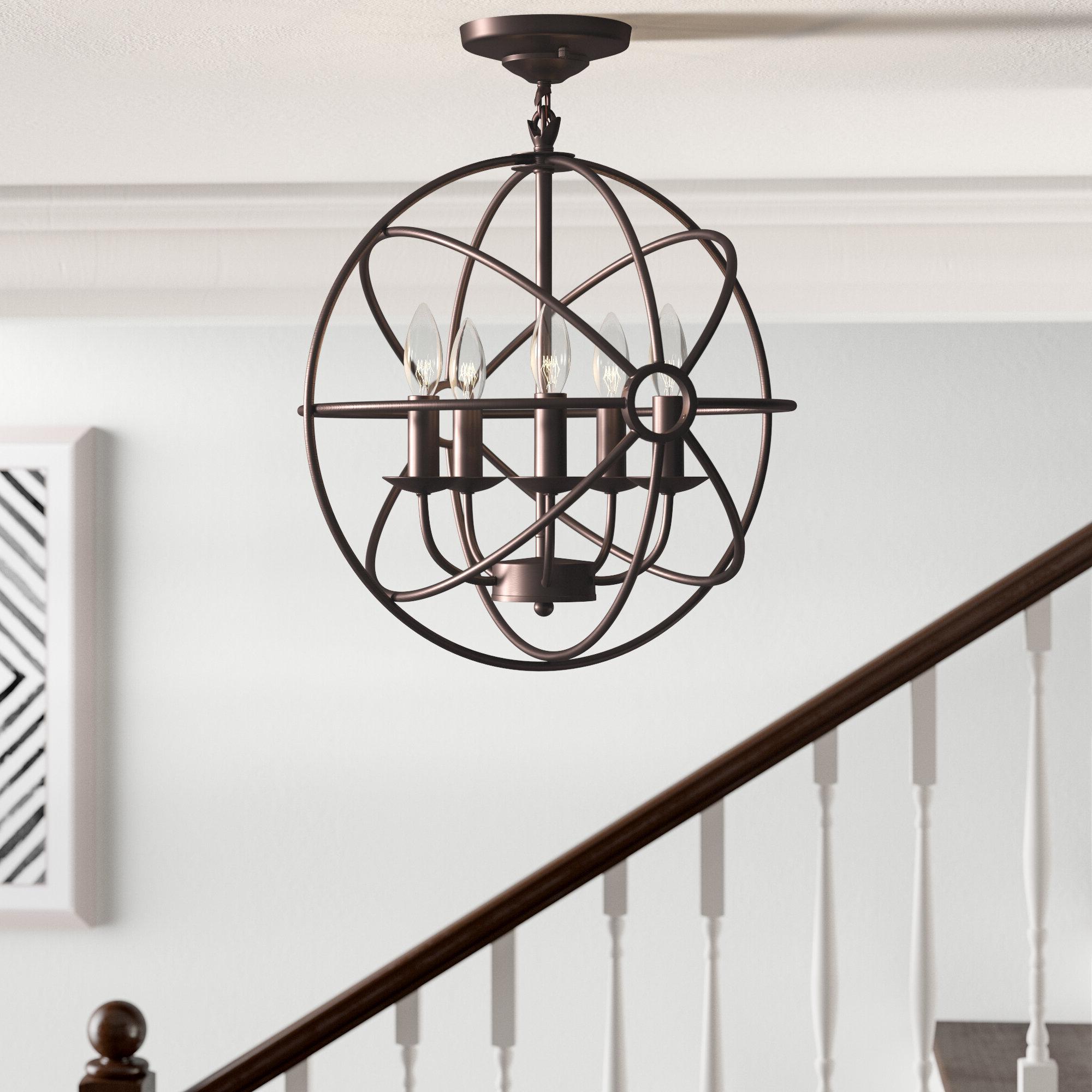 Most Recent Douglass 5 Light Globe Chandelier Inside Hendry 4 Light Globe Chandeliers (Gallery 18 of 20)