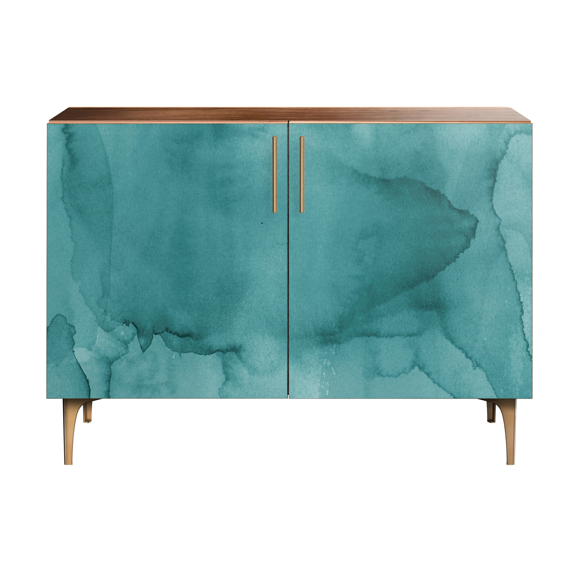 Most Recent Dowler 2 Drawer Sideboards Pertaining To Delgadillo Credenza (View 9 of 20)