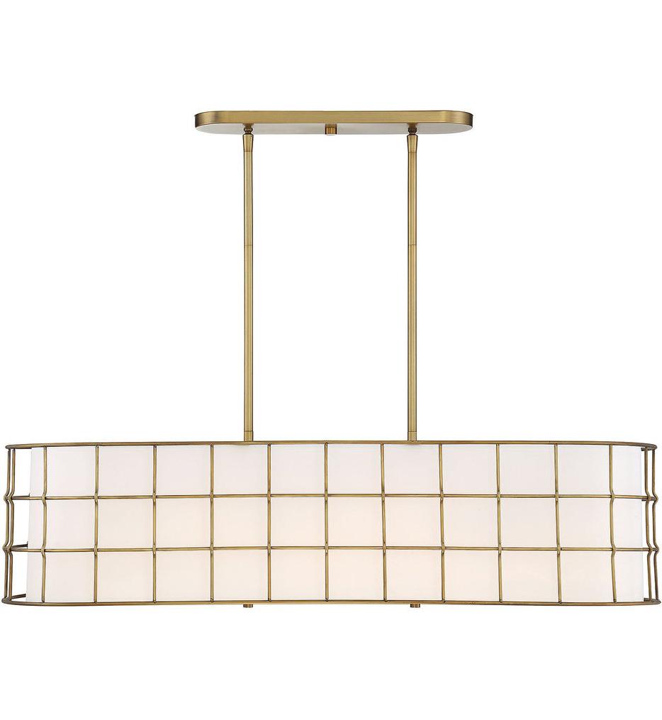 Most Recent Hayden 5 Light Shaded Chandeliers With Regard To Savoy House – Hayden 5 Light Linear Chandelier (View 11 of 20)