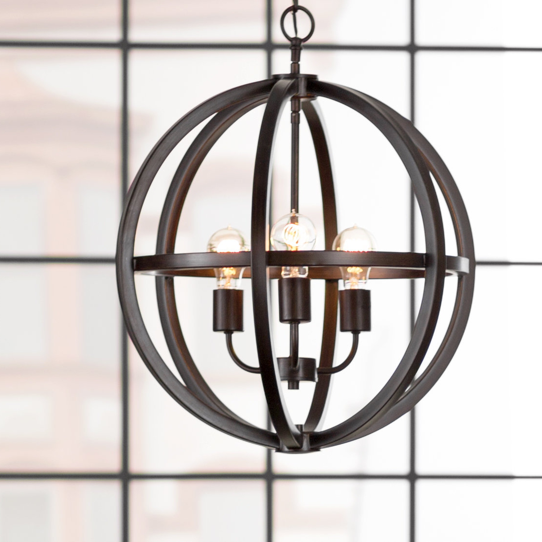Most Recent Irwin 3 Light Unique / Statement Chandelier Within Kaycee 4 Light Geometric Chandeliers (Gallery 18 of 20)