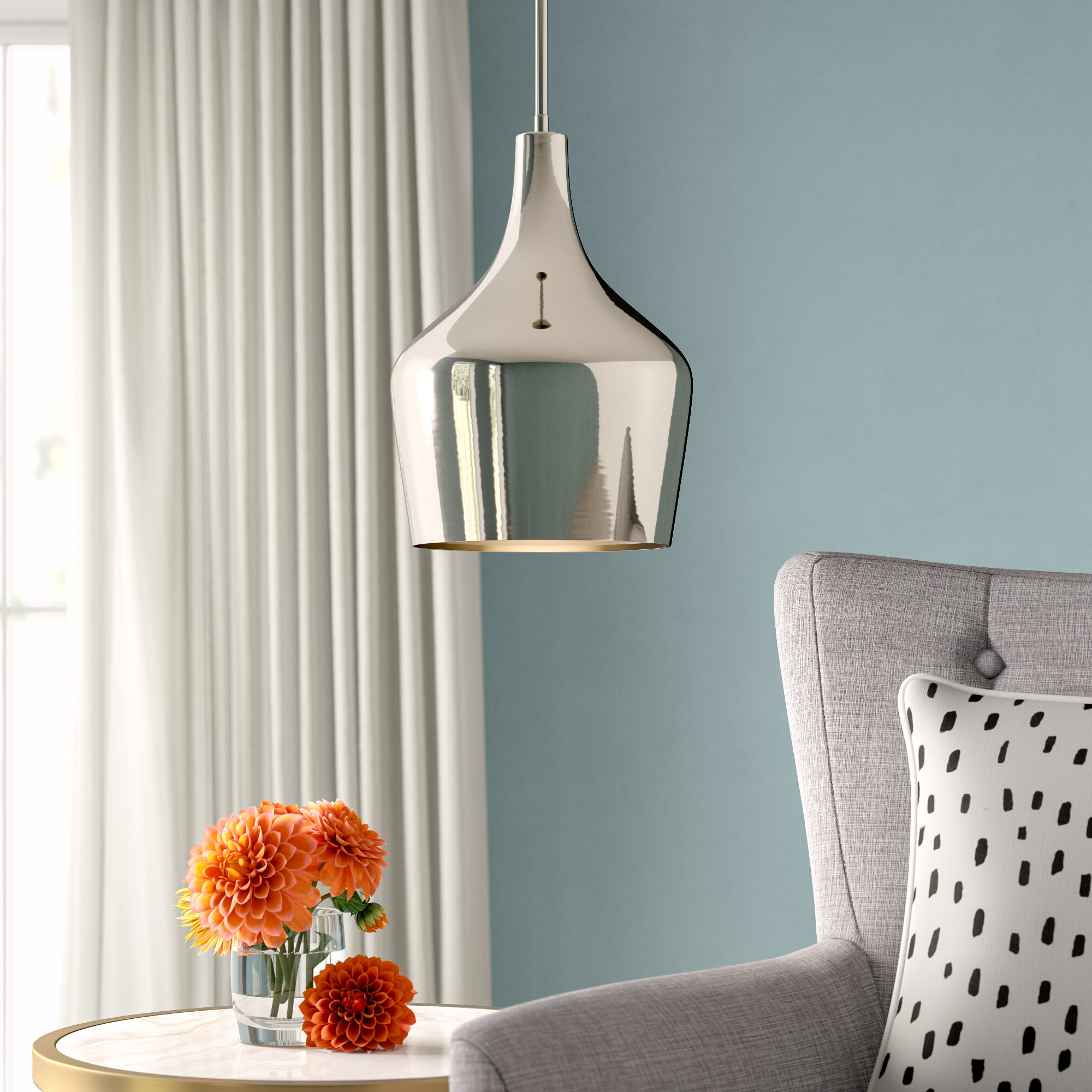 Most Recent Knoxville 1 Light Single Dome Pendant With Knoxville 1 Light Single Teardrop Pendants (Gallery 4 of 20)