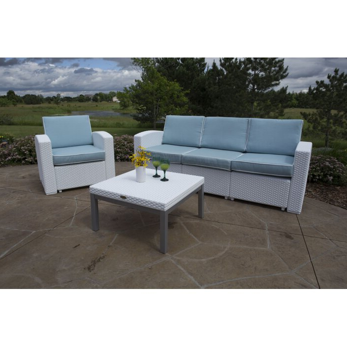 Most Recent Loggins Patio Sofas With Cushions Inside Loggins Patio Sofa With Cushions (View 17 of 21)