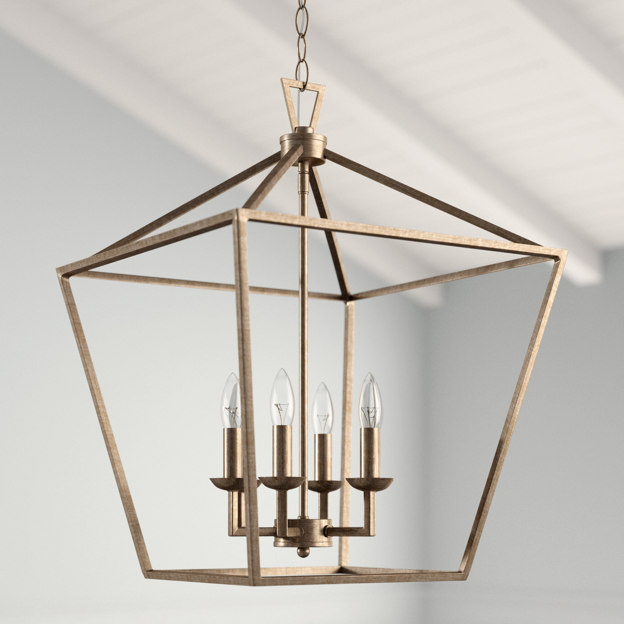 Most Recent Louanne 1 Light Lantern Geometric Pendants Regarding Carmen 6 Light Lantern Geometric Pendant (View 16 of 20)
