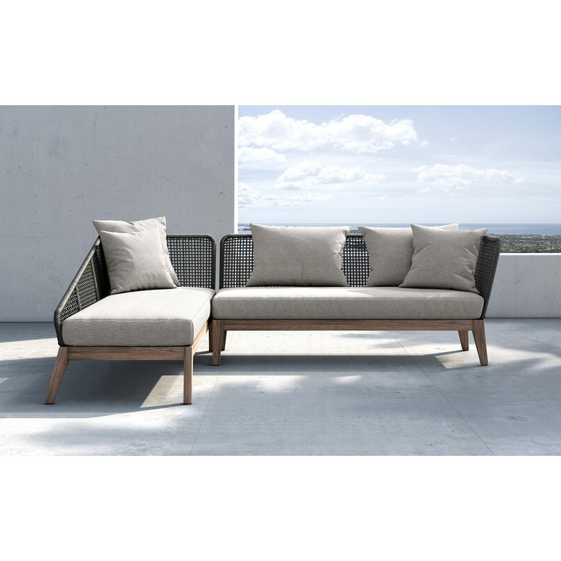Most Recent Netta Patio Sectional With Cushion Pertaining To Paloma Sectionals With Cushions (View 8 of 20)