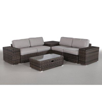 Most Recent Nolen Patio Sectionals With Cushions Intended For Latitude Run Nolen 8 Piece Sectional Set With Cushions In (View 8 of 20)