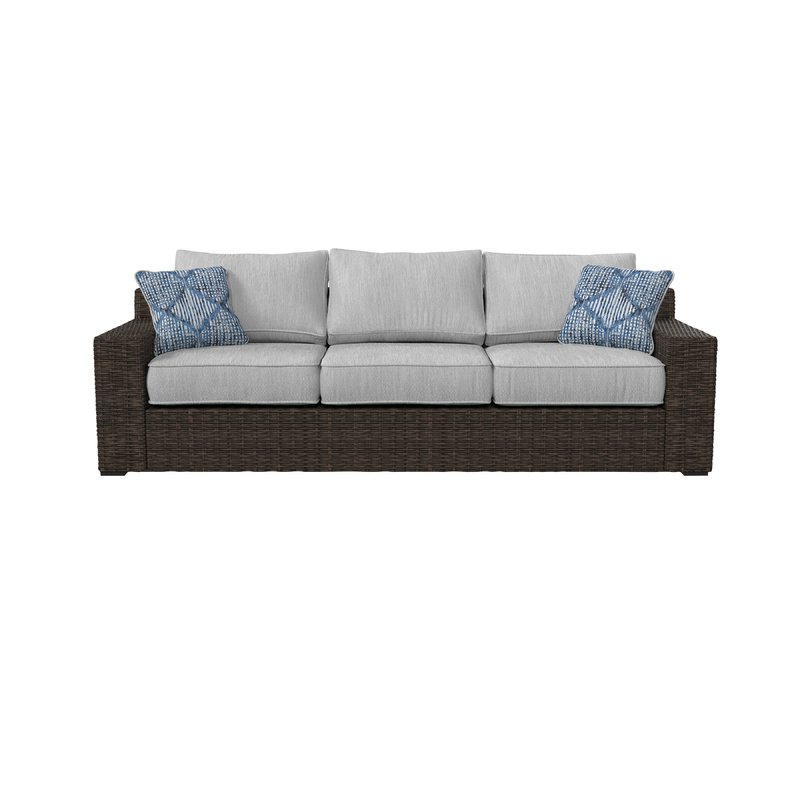 Most Recent Oreland Patio Sofa With Cushions For Oreland Patio Sofas With Cushions (Gallery 2 of 20)