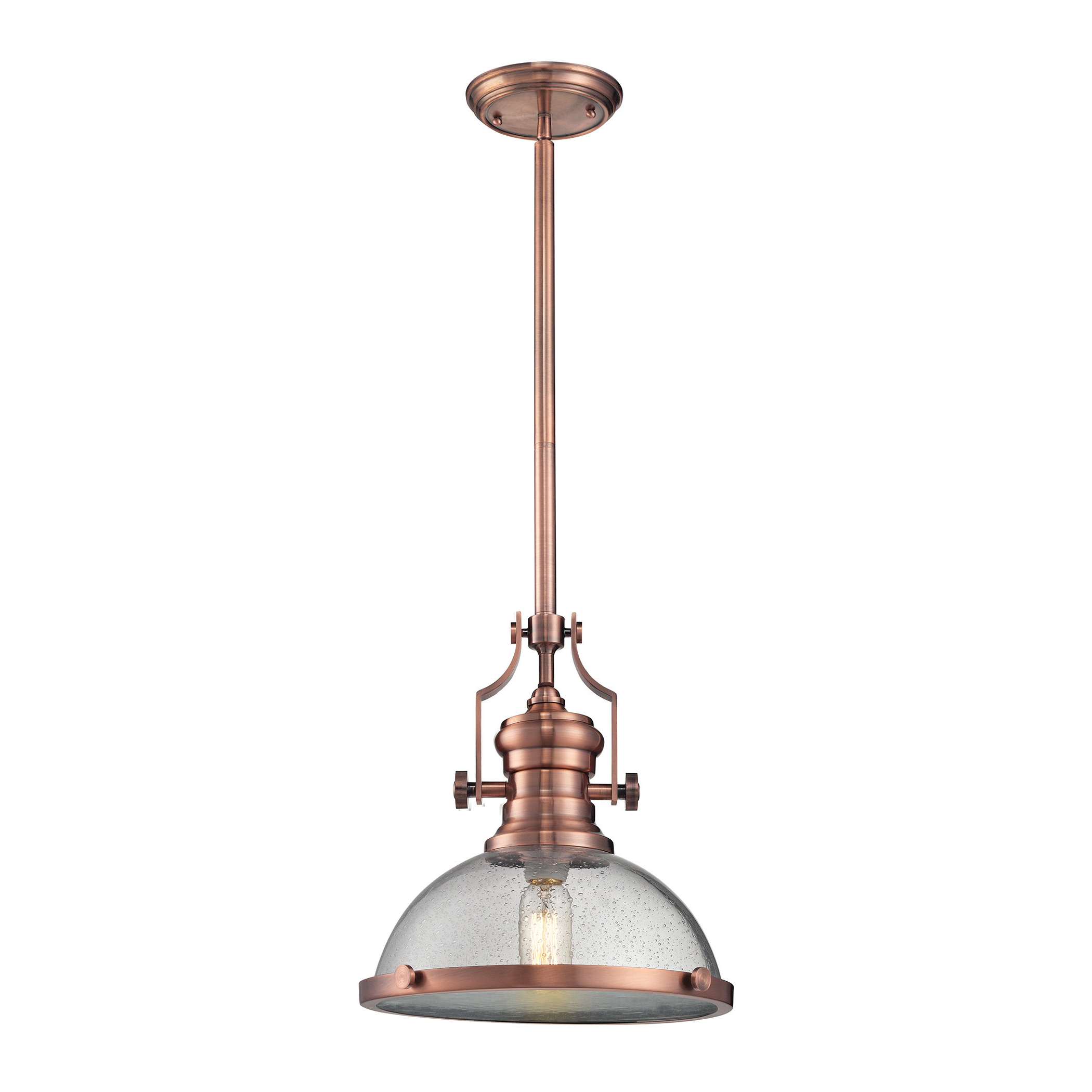 Most Recent Priston 1 Light Single Dome Pendant For Priston 1 Light Single Dome Pendants (Gallery 1 of 20)