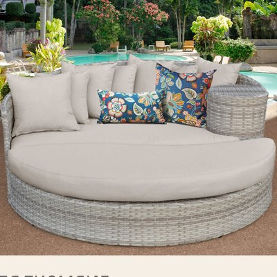 Most Recent Sol 72 Outdoor Falmouth Patio Daybed With Cushions For Falmouth Patio Daybeds With Cushions (Gallery 9 of 20)
