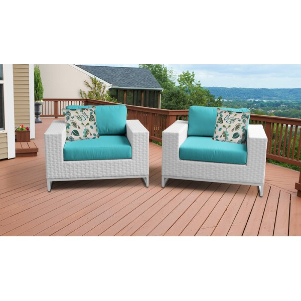 Most Recent Spina Patio Chair With Cushions (Set Of 2) (View 18 of 20)