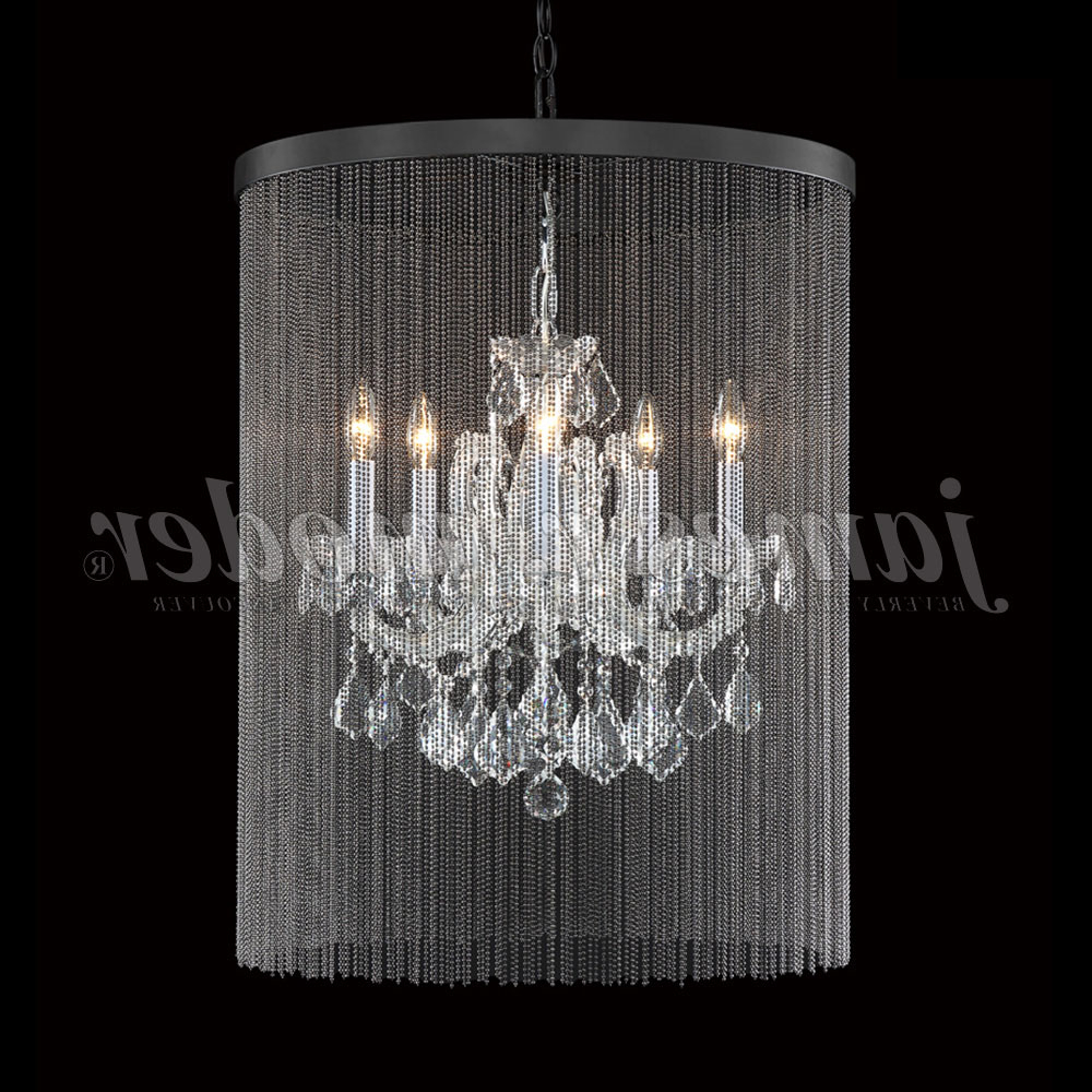 Most Recent Thresa 5 Light Shaded Chandeliers With Regard To James Moder 91805S22 45 Maria Theresa Grand Crystal Silver Mini Lighting  Chandelier (Gallery 20 of 20)
