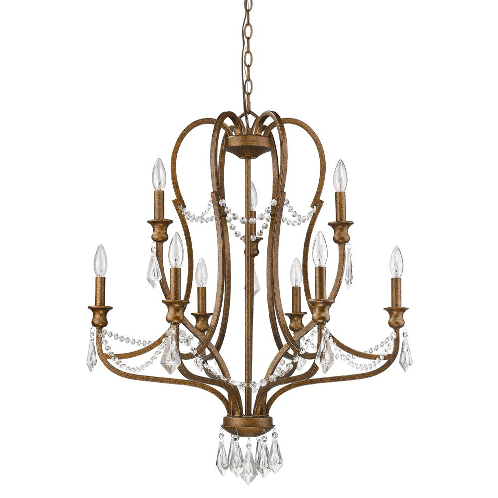 Most Recently Released Acclaim Lighting Gianna 9 Light Indoor Chandelier With Crystal In Russet With Kenedy 9 Light Candle Style Chandeliers (View 13 of 20)
