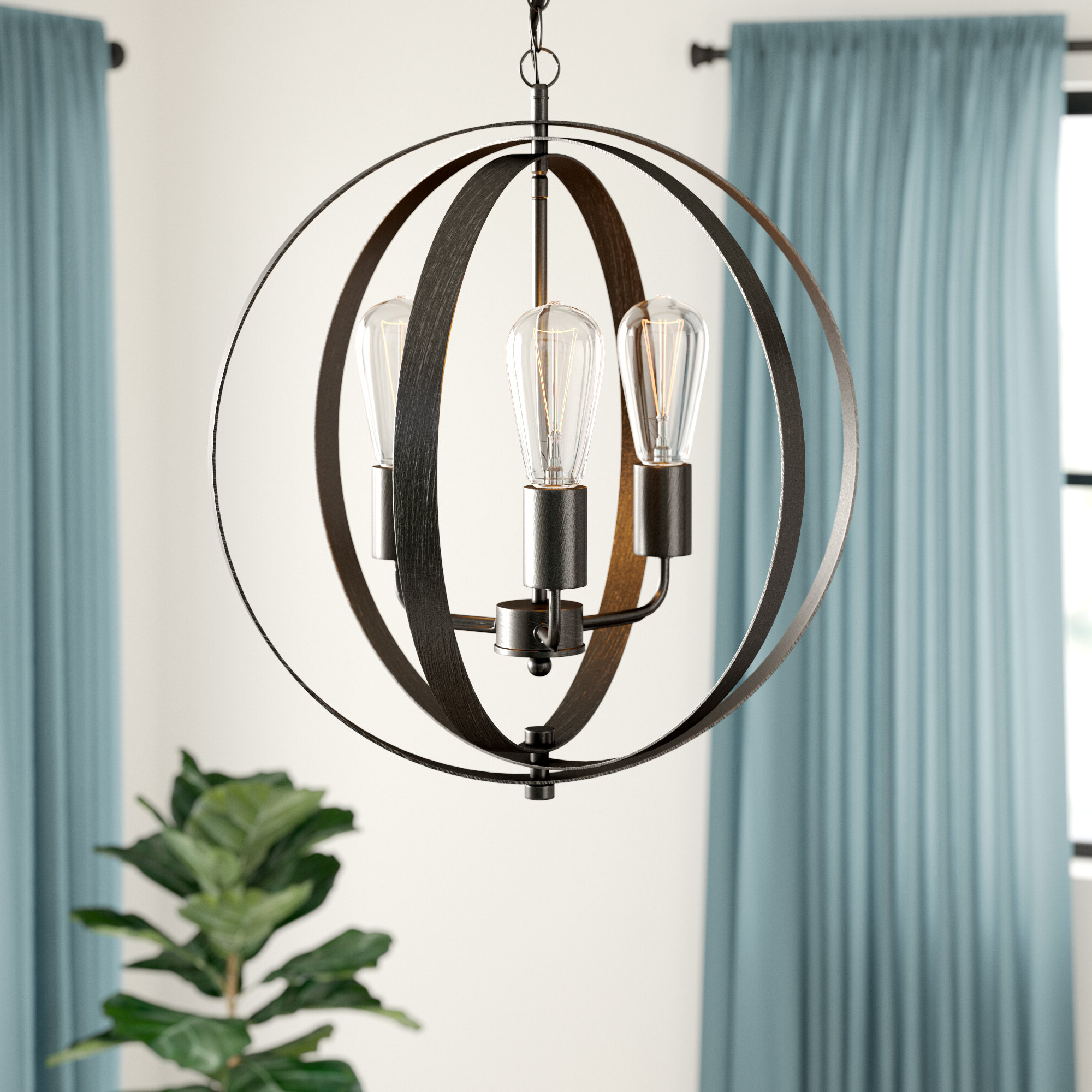 Most Recently Released Annuziata 3 Light Unique/statement Chandeliers Pertaining To Belby 3 Light Chandelier (Gallery 4 of 20)