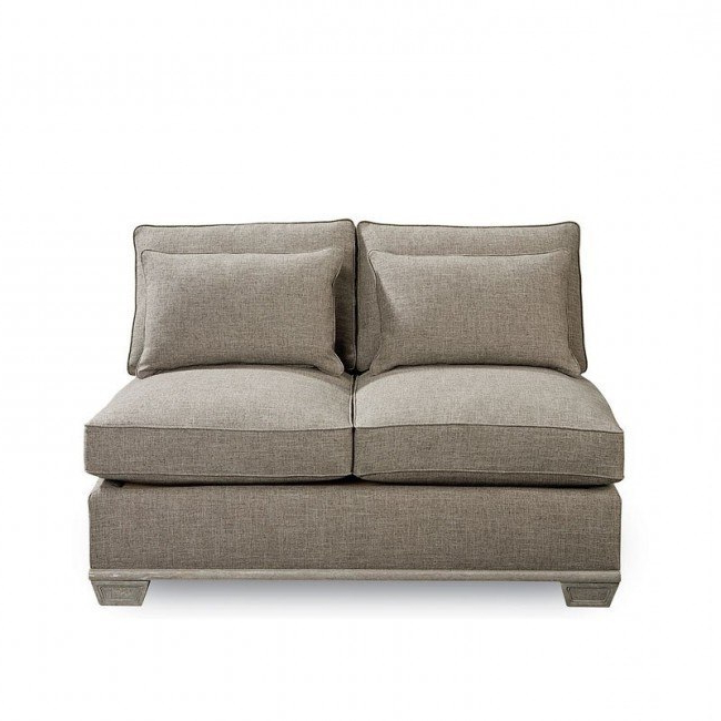 Most Recently Released Arch Salvage Jardin Armless Loveseat With Vardin Loveseats With Cushions (View 19 of 20)