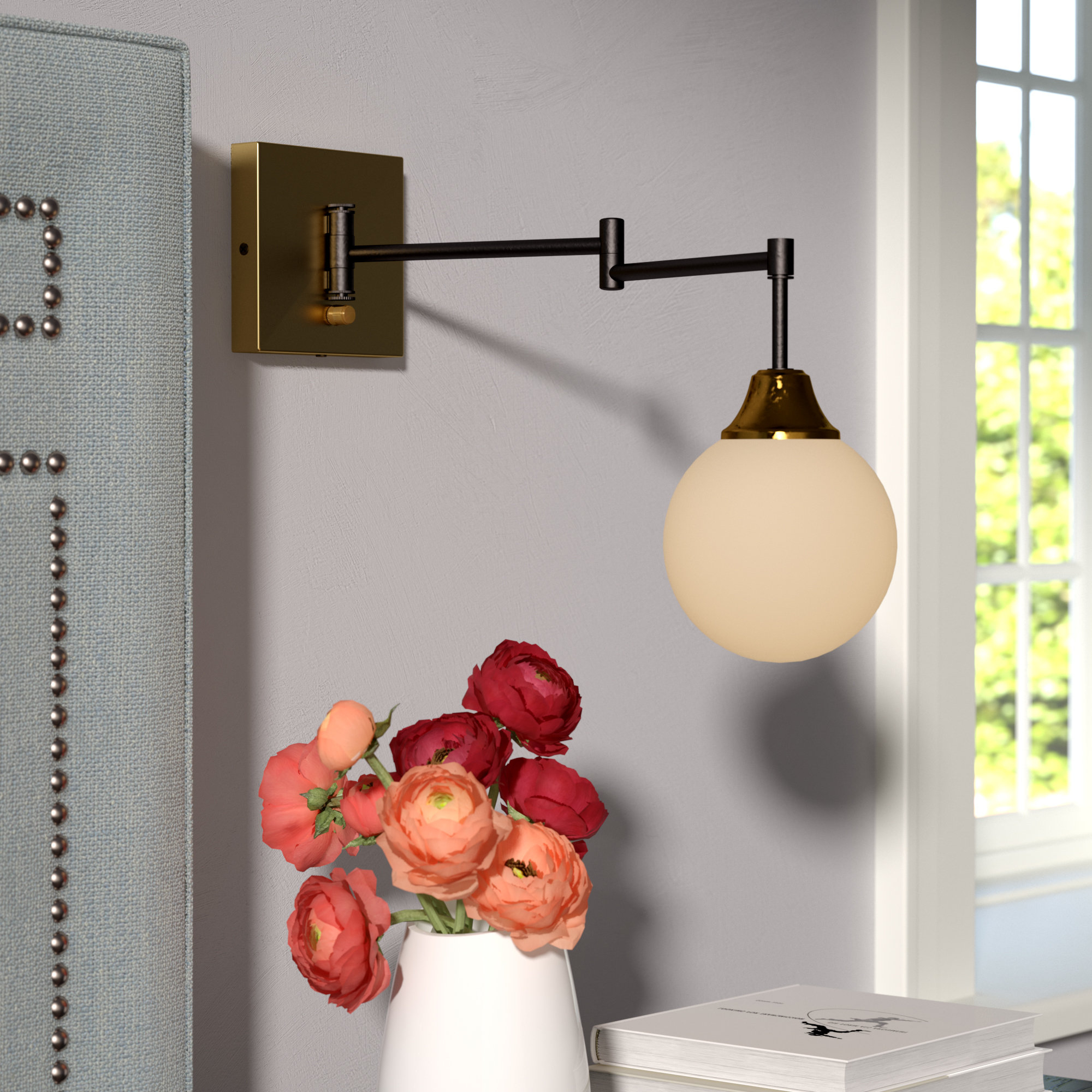 Most Recently Released Bautista 1 Light Plug In Swing Arm Regarding Bautista 1 Light Single Globe Pendants (Gallery 14 of 20)