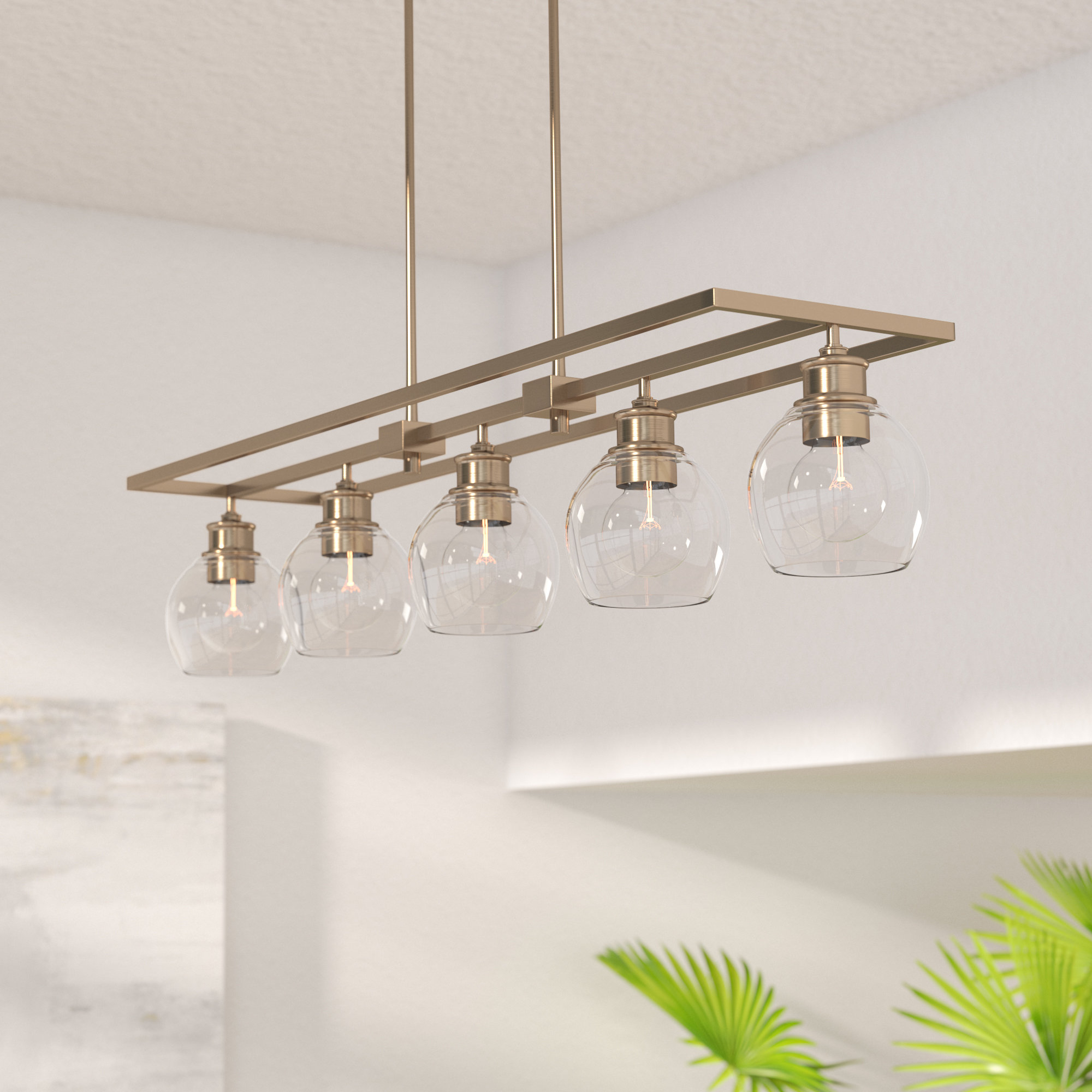 Most Recently Released Bautista 6 Light Kitchen Island Bulb Pendants Pertaining To 4 – 6 Light Kitchen Island Pendant Lighting You'll Love In (View 13 of 20)