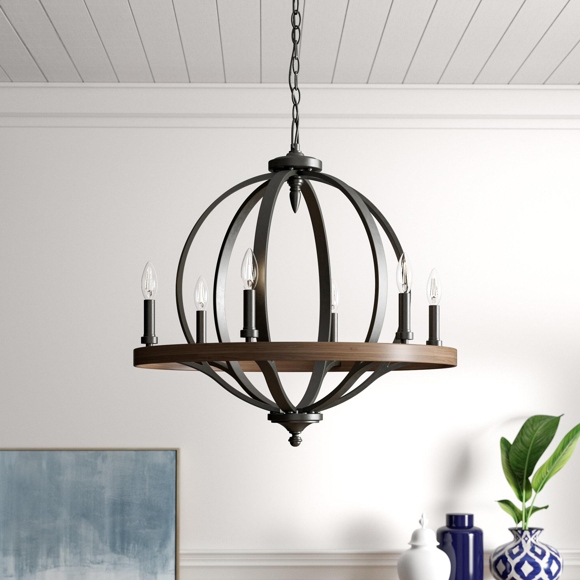Most Recently Released Bender 6 Light Candle Style Chandelier Inside Donna 6 Light Globe Chandeliers (View 18 of 20)