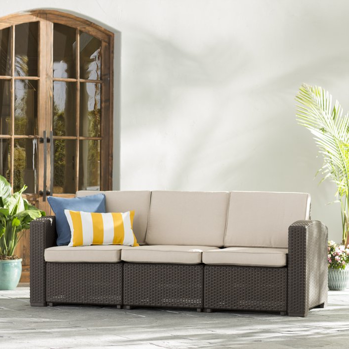 Most Recently Released Clifford Patio Sofas With Cushions Inside Clifford Patio Sofa With Cushions (View 3 of 20)