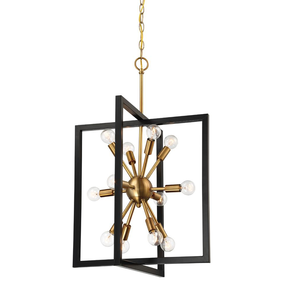 Most Recently Released Designers Fountain Xander 12 Light Aged Warm Brass Pendant For Johanne 6 Light Sputnik Chandeliers (Gallery 18 of 20)