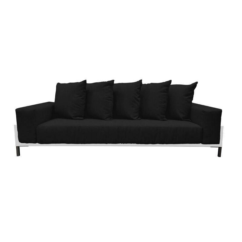 Most Recently Released Ellanti Teak Patio Daybeds With Cushions Within Tilly Deep Seated Patio Sofa With Cushions (View 14 of 20)