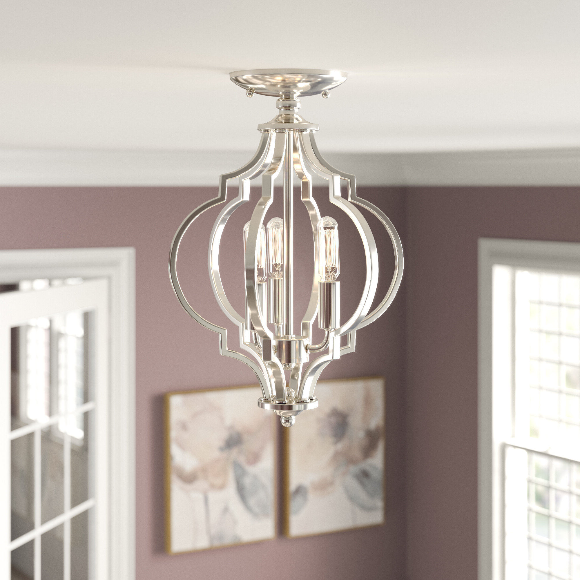 Most Recently Released Everly Quinn Isoline 2 Light Lantern Geometric Pendant With Isoline 2 Light Lantern Geometric Pendants (View 12 of 20)